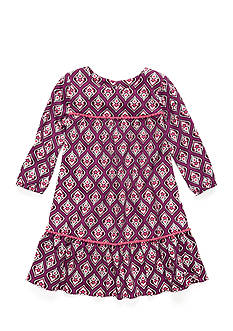 Red Camel® Chally Print Bell Sleeve Dress Girls 7-16