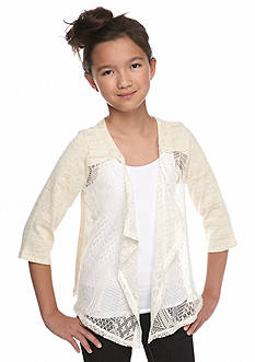 Red Camel® 3/4 Sleeve Lace Cardigan Girls  7-16