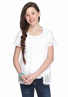 Red Camel® Short Sleeve Lace Cozy Girls 7-16