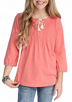Red Camel Knit Peasant Top Girls 7-16