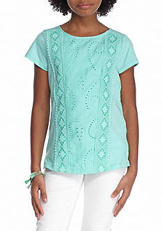 Red Camel Lace Front Top Girls 7-16