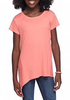Red Camel® Knit Rib Babydoll Flare Top Girls 7-16
