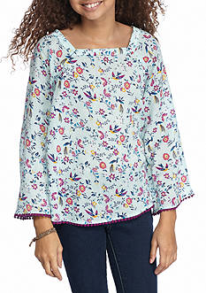 Red Camel® Floral Peasant Top Girls 7-16