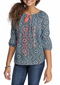 Red Camel® Diamond Peasant Top Girls 7-16