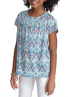 Red Camel Deco Print Top Girls 7-16
