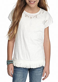 Red Camel® Embroidered Fringe Top Girls 7-16