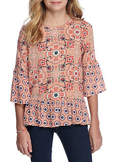 Red Camel® Medallion Print Top Girls 7-16