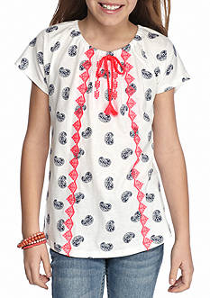 Red Camel® Paisley Peasant Top Girls 7-16
