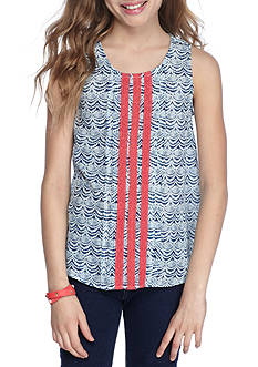 Red Camel Scallop Print Tank Girls 7-16