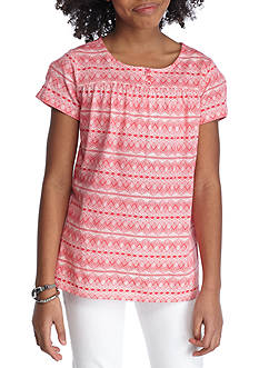Red Camel® Deco Print Stripe Top Girls 7-16