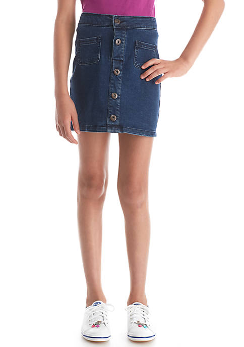 TRUE CRAFT Denim Skirt Girls 7-16 | belk