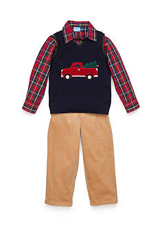Good Lad Vest and Corduroy 3-Piece Set Boys 4-7