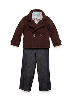Good Lad Pea Coat and Jeans 3-Piece Set Boys 4-7