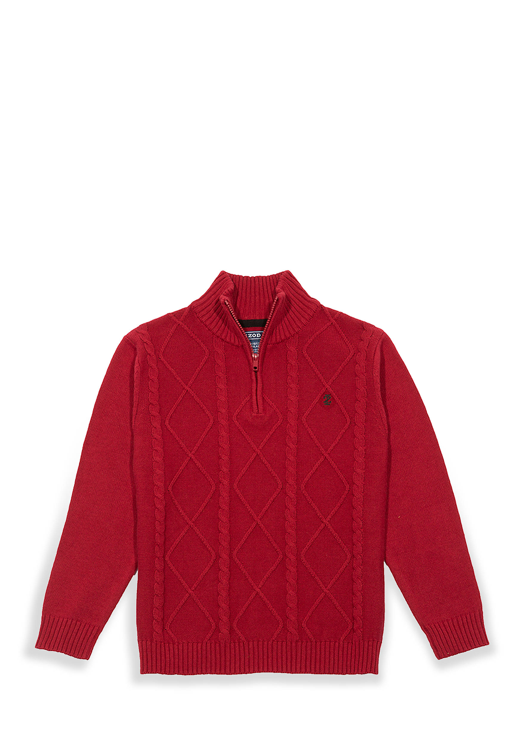 IZOD Boys 4-7 Red Solid 14 Zip Sweater | belk
