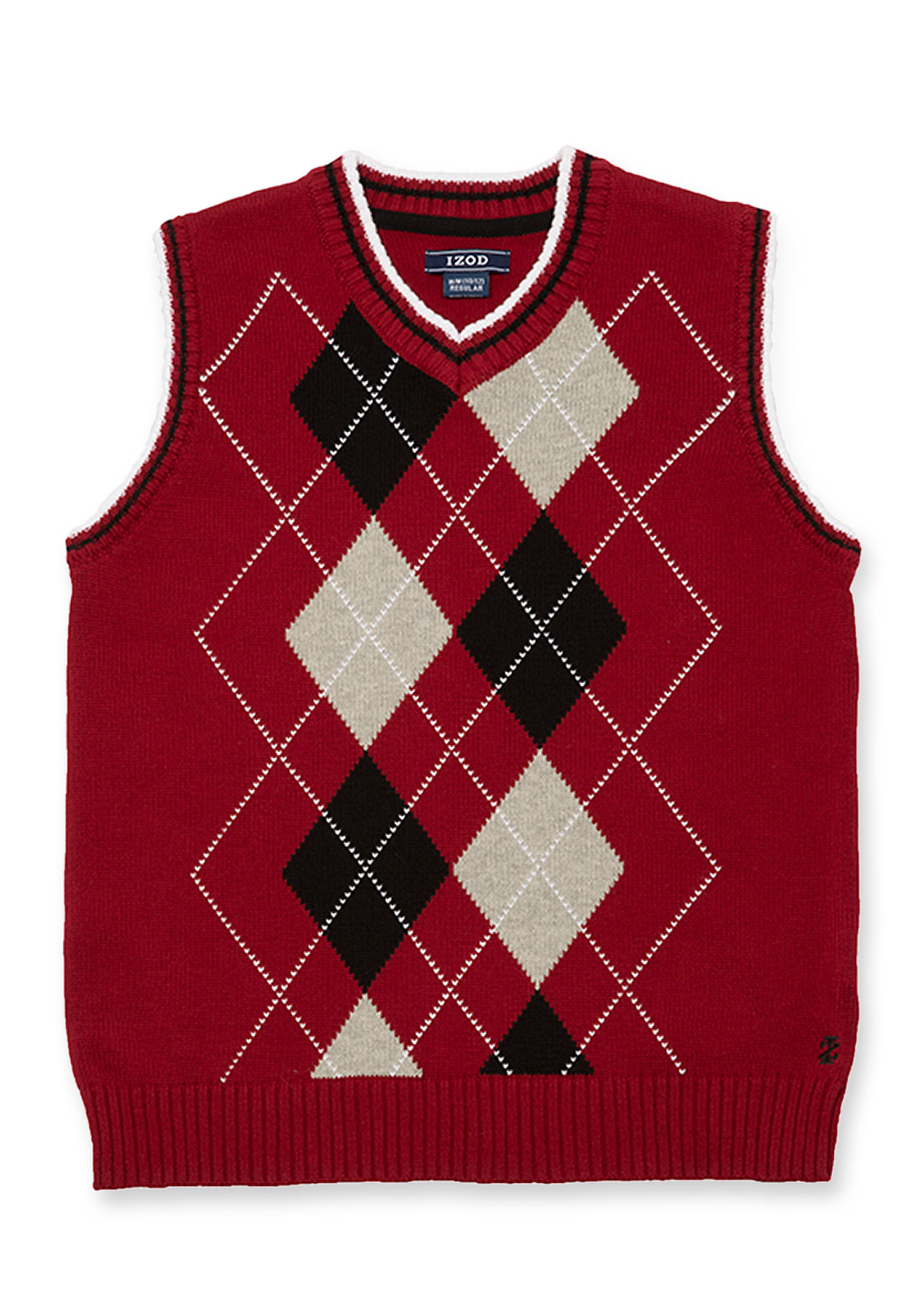 IZOD Boys 4-7 Red Argyle Sweater Vest | belk