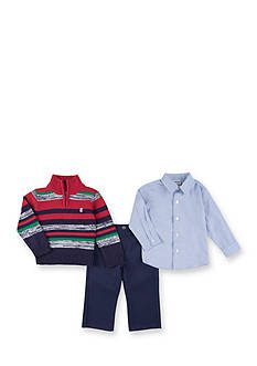IZOD 3-Piece Sweater, Dress Shirt and Pants Set Boys 4-7