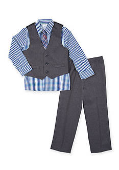 IZOD Herringbone tie vest set Boys 4-7