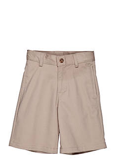 IZOD Uniform Flat Front Slim Shorts Boys 4-7