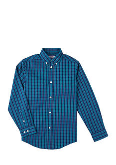 IZOD Buffalo Plaid Woven Shirt Boys 4-7