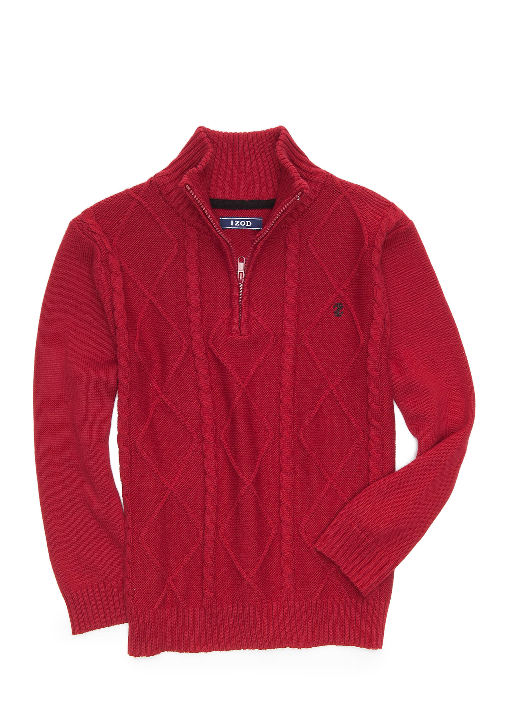 IZOD Cable Knit Quarters Zip Sweater Boys 8-20 | belk