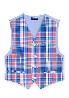 IZOD Plaid Vest Boys 8-20
