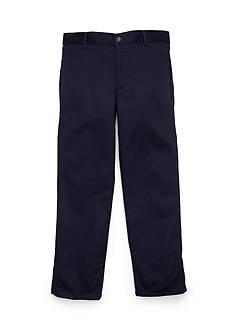 IZOD Basic Flat Front Twill Husky Pants Boys 8-20