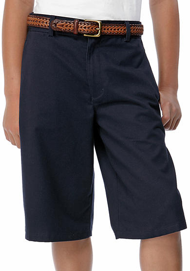 IZOD Uniform Flat Front Slim Shorts boys 8-20