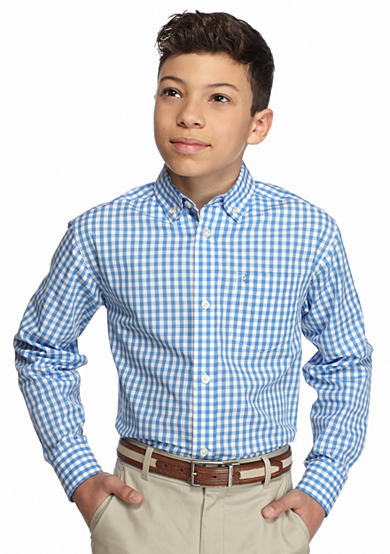 Izod Plaid Woven Shirt Boys 8 20 Belk