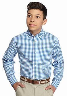 IZOD Plaid Woven Shirt Boys 8-20