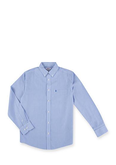 Izod Basic Blue Stripe Woven Shirt Boys 8 20 Belk
