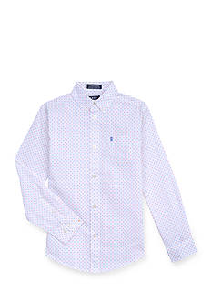 IZOD Dot Woven Button-Front Shirt Boys 8-20