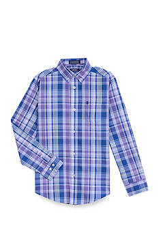 IZOD Plaid Woven Button-Front Shirt Boys 8-20