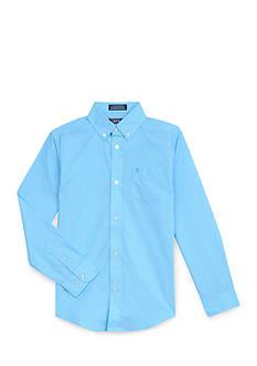 IZOD Micro Stripe Woven Button-Front Shirt Boys 8-20
