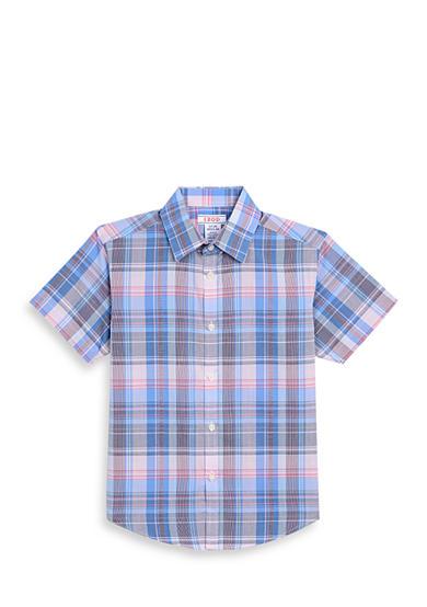 Izod Print Button Front Shirt Boys 8 20 Belk