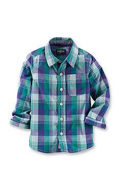 OshKosh B'gosh Plaid Woven Shirt Boys 4-7