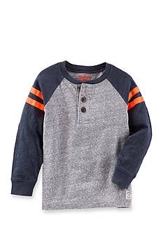 OshKosh B'gosh® Long Sleeve Raglan Henley Tee Boys 4-7