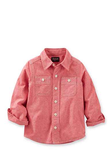 OshKosh B'gosh® 2-Pocket Chambray Button-Front Shirt Boys 4-7