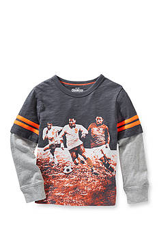 OshKosh B'gosh® Printed Soccer Player 2Fer Tee Boys 4-7
