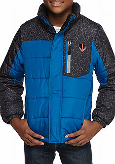 London Fog Colorblocked Puffer Coat Boys 8-20