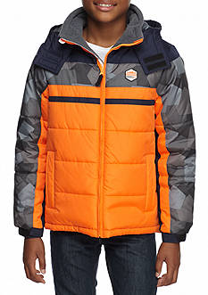 London Fog Colorblock Puffer Boys 8-20