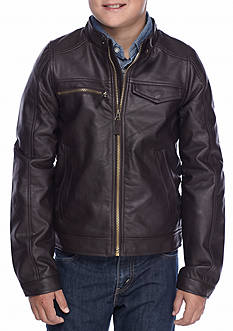London Fog Moto Jacket Boys 8-20