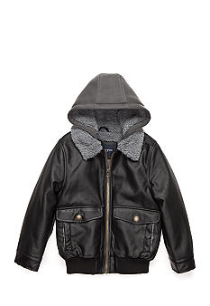 London Fog Faux Leather Bomber Jacket Boys 4-7 | Belk