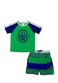 OshKosh B'gosh 2-Piece Snack Time Rashguard Set Boys 4-7