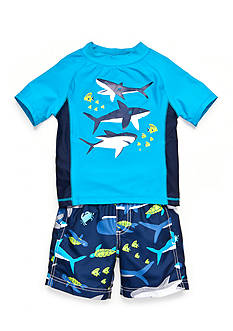 Carter's® 2-Piece Sharks Swim Set Boys 4-7