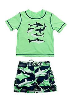 Carter's 2-Piece Shark Rashguard Set Boys 4-7