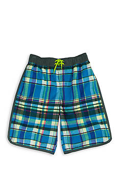 Tommy Bahama Plaid Swim Trunk Boys 8-20