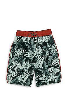 Tommy Bahama Palm Print Swim Trunks Boys 8-20