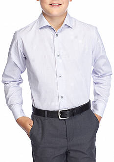 Calvin Klein Stripe Woven Shirt Slim Fit Boys 8-20