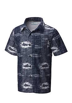 Columbia PFG Woven-Button Front Shirt Boys 8-20