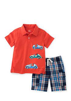 Kids Headquarters 2-Piece Car Polo Short Set Boys 4-7